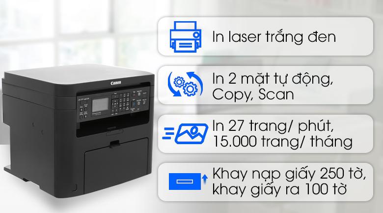 Máy In Laser Trắng Đen Canon đa năng in scan copy MF241d  cũ