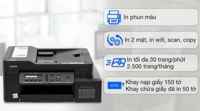 Máy in phun màu đa năng In-Scan-Copy Brother DCP-T720DW cũ